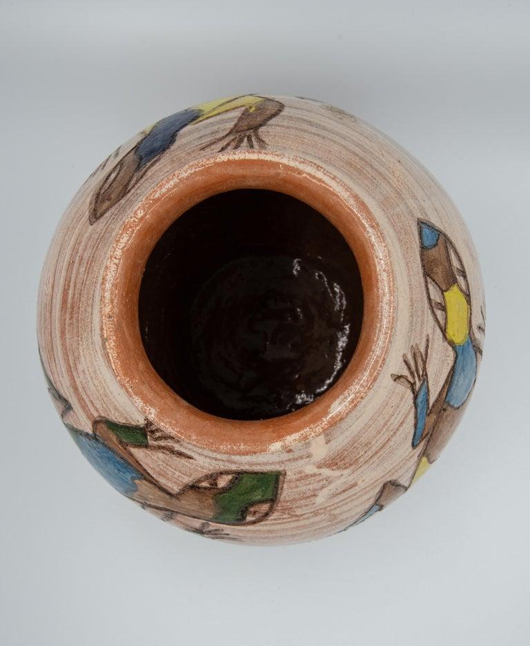 Mexican Antique Dolores Porras Lizard Clay Pottery Folk Art Terracotta Vase For Sale 1