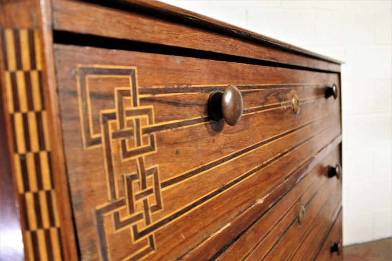 Mexican Art Deco Chest of Drawers For Sale 5