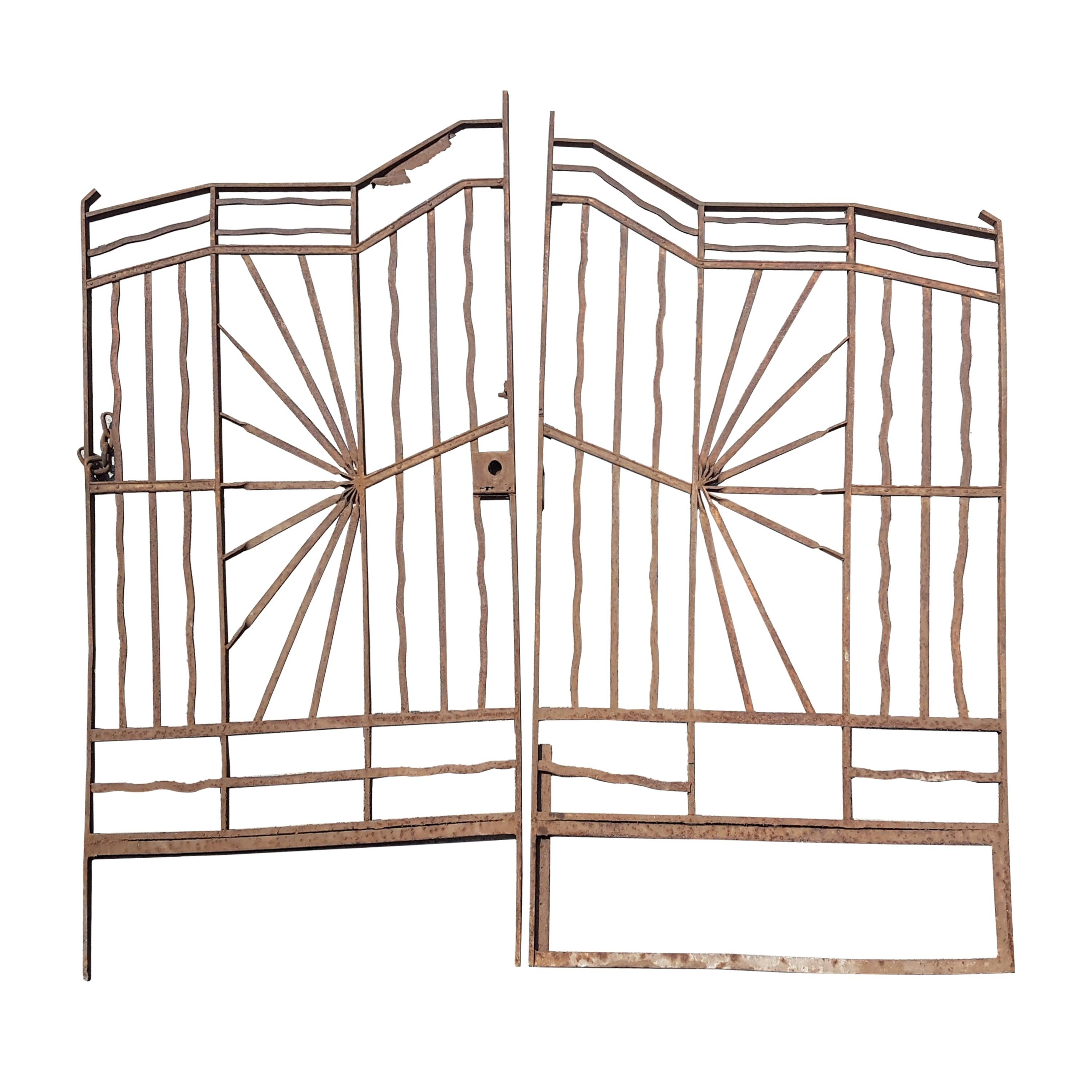 Mexican Art Deco Style Iron Door Grill