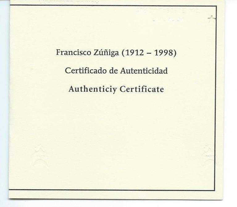 Francisco Zuniga Mexican Artist Watercolor, 1966,