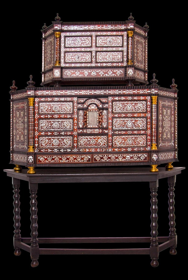 Mexican Cabinet with Nacar Shell Inlays, the Base and the ...