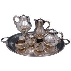 Mexican Conquistador for Spratling Sterling Silver Tea Set with Kettle