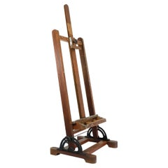 Mexican Early 1950 Wood Adjustable Artist Easel