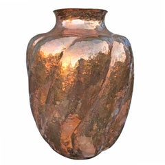 Mexican Hand-Hammered Copper Vase