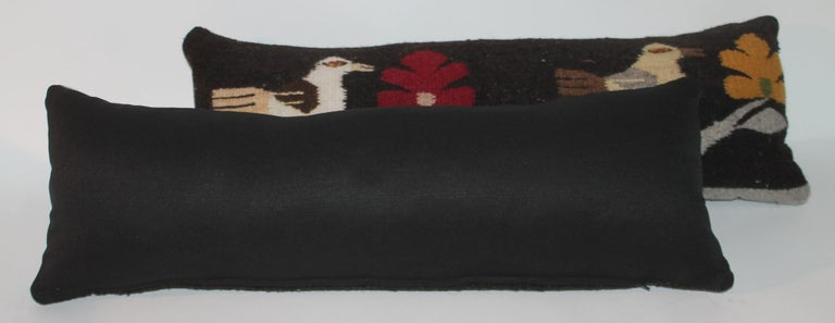 Hand-Crafted Mexican / Indian Bird Weaving Pillows, 2 For Sale