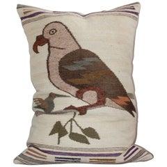 Mexican Indian Weaving Bird Pillow