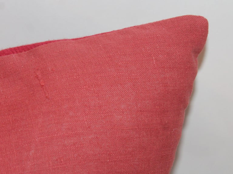 Wool Mexican Indian Weaving Pillows, Pair For Sale