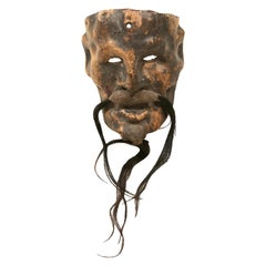 Leather Mask of Old Man/Sage, San Miguel de Allende, Mexico, Ca. 1930s