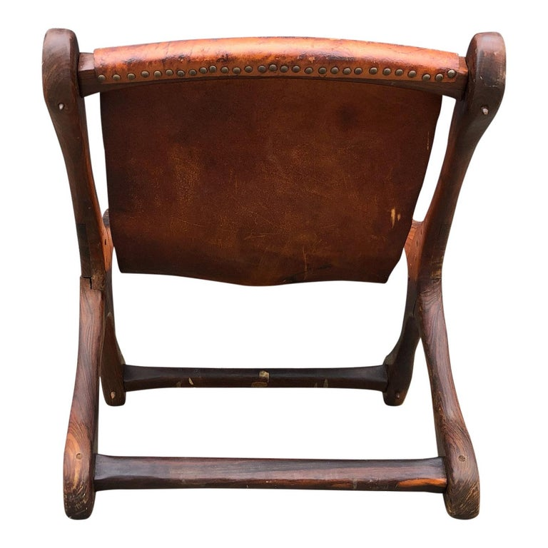 Mid-20th Century Mexican Midcentury Don Shoemaker Leather Sling Chair