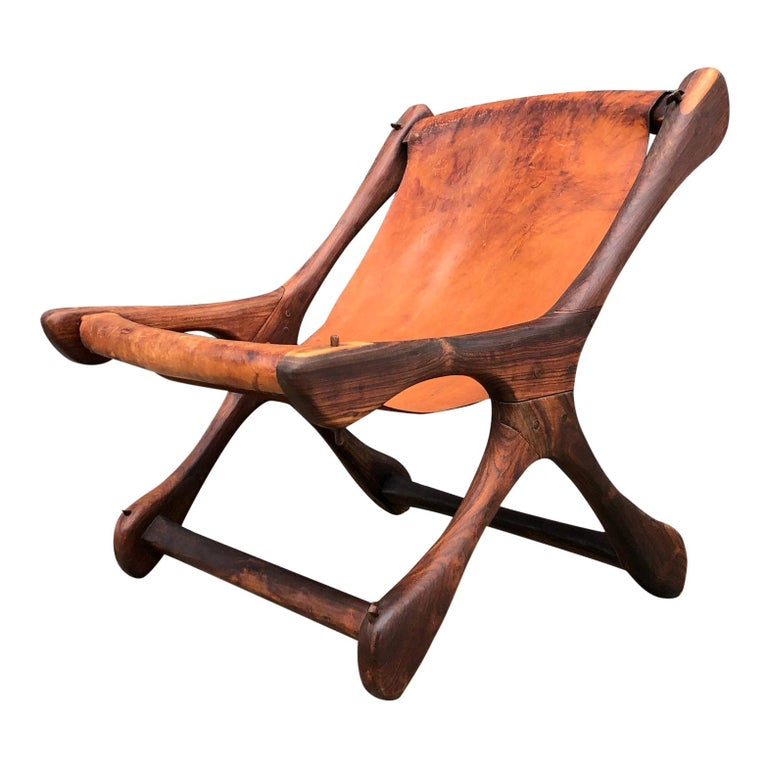 Mexican Midcentury Don Shoemaker Leather Sling Chair