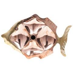 Mexican Mid-Century Modern Metales Casados Fish Shaped Tray