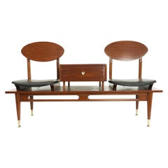 Mexican Mid-Century Modern Telephone Bench by Eugenio Escudero