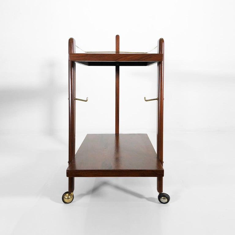 Mid-Century Modern Mexican Midcentury Serving Cart For Sale