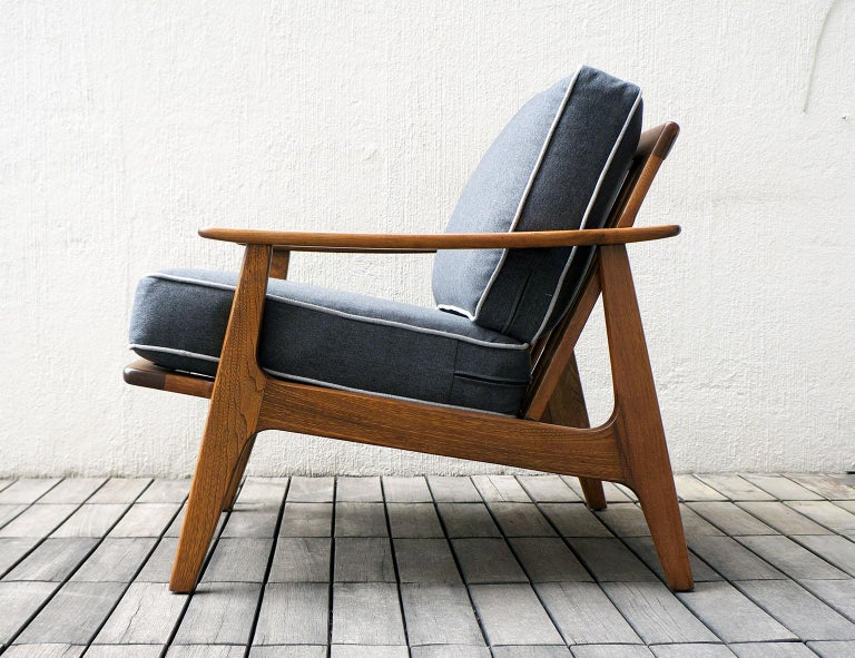 "Mexican Midcentury Sofa and Lounge Chair by ""Malinche"", 1950s For Sale 4"