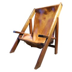 Mexican Modern Leather Lounge Chair