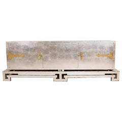 Fabulous Frank Kyle Stunning Silver Leaf Credenza, 1950s Mexican Modernism