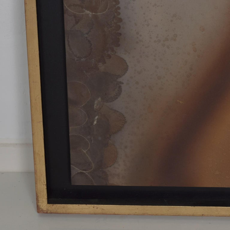 Mexican Modernism Raul Monje Large Abstract Wall Art in Bronze In Good Condition For Sale In National City, CA