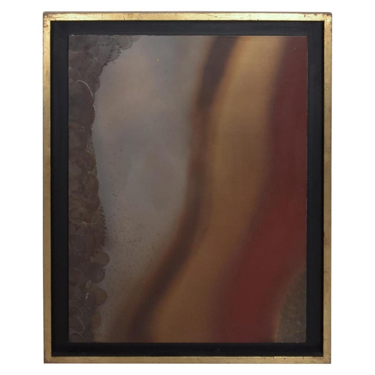 Mexican Modernism Raul Monje Large Abstract Wall Art in Bronze For Sale