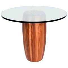 Mexican Modernist Cedar Wood Pedestal Center Table