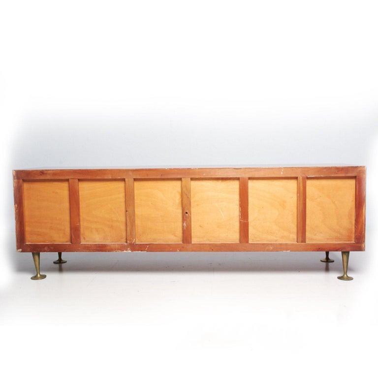 Mid-20th Century Mexican Modernist Double Dresser Credenza attributed to Eugenio Escudero For Sale