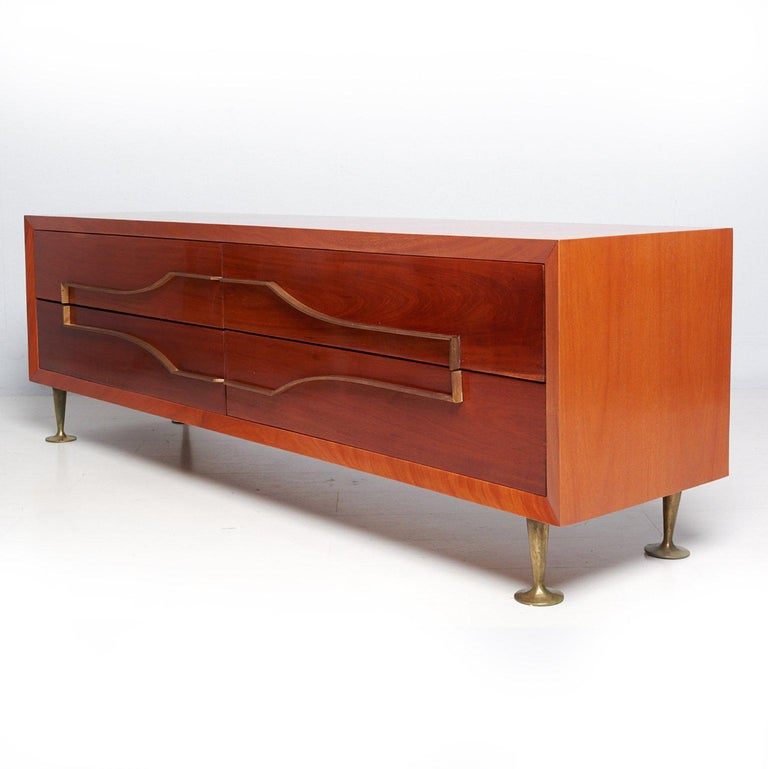 Mexican Modernist Double Dresser Credenza attributed to Eugenio Escudero For Sale 1