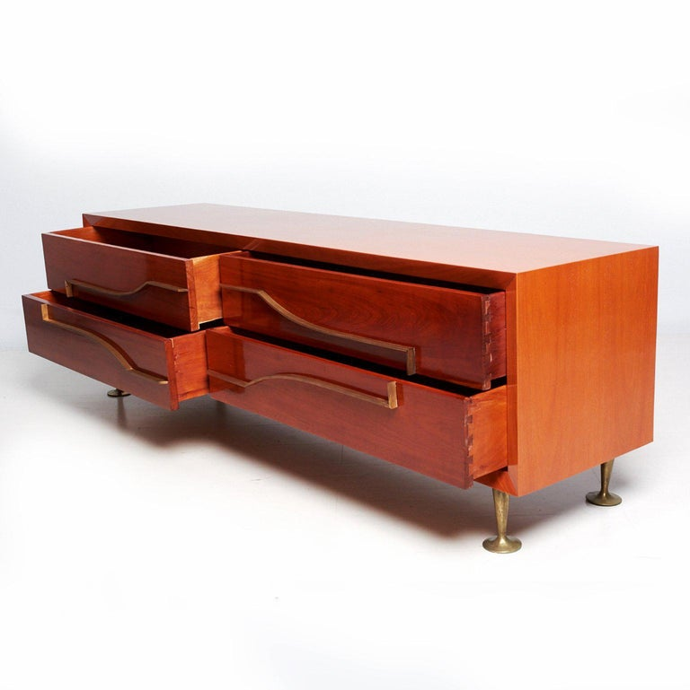 Mexican Modernist Double Dresser Credenza attributed to Eugenio Escudero For Sale 2