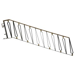 Mexican Modernist Gilded Iron Staircase Handrail Talleres Chacon for Arturo Pani