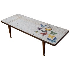 Mexican Modernist Genaro Alvarez Mosaic Coffee Table