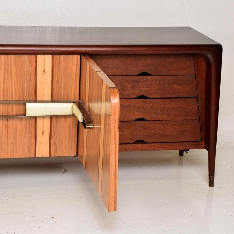 Mexican Modernist Long Credenza Attributed to Eugenio Escudero For Sale 1