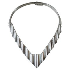 Mexican Modernist Sterling Silver Necklace