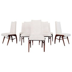 Mexican Modernist Walnut Dining Chairs by Eugenio Escudero