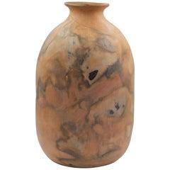 Mexican Natural Clay Folk Art Handmade Ceramic Vase Terracota