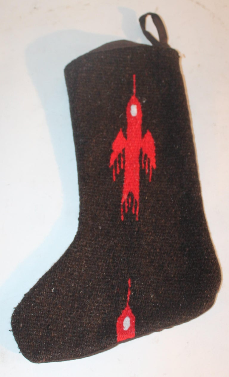 Adirondack Mexican or American Indian Weaving Stockings, 3 For Sale