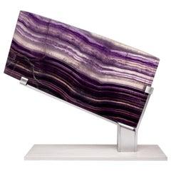 Mexican Purple Fluorite on Aluminum Base
