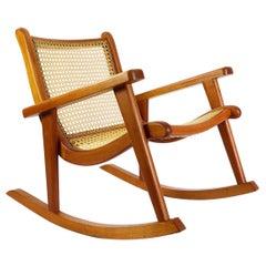 Mexican Rocking Chair Attributed to Michael van Beuren