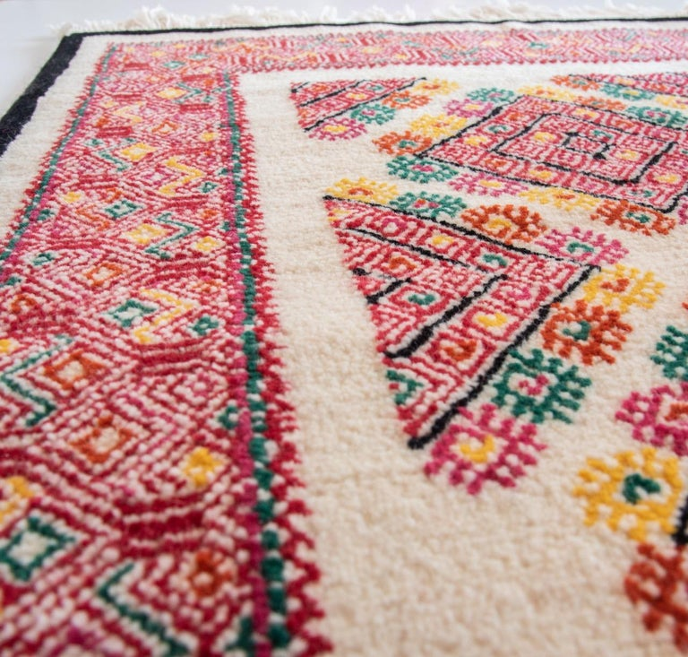 Mexican Rug Images: Mexican Rug Chiapas Wool Indigenous Technique Red Black