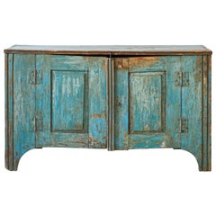 Mexican Rustic Blue Two-Door Buffet