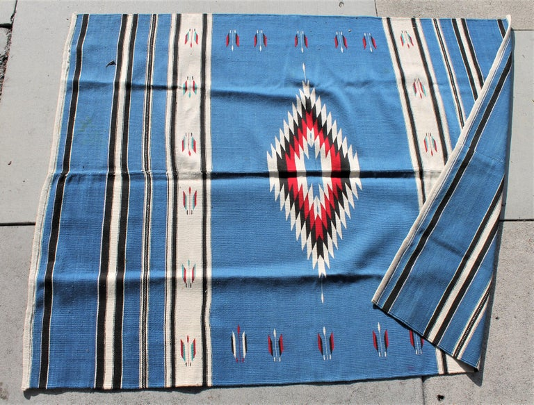 This fine Mexican Indian weaving is in pristine condition and has the original vibrant colors.