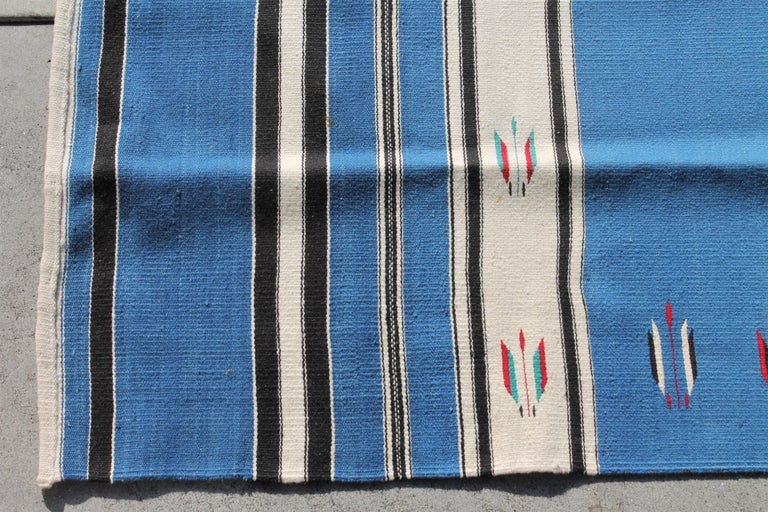 American Mexican Serape Indian Weaving For Sale