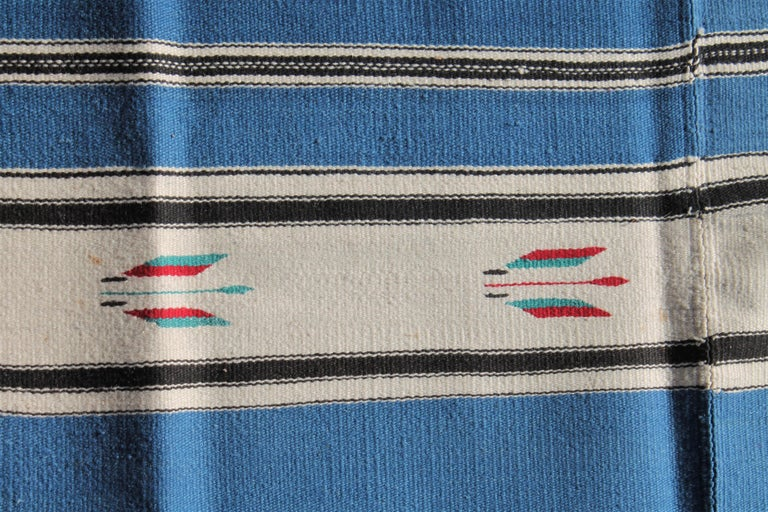 Hand-Woven Mexican Serape Indian Weaving For Sale