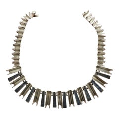 Mexican Sterling Silver Modernist Necklace, Atributted to Antonio Pineda