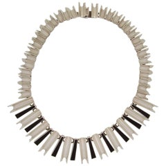 Mexican Sterling Silver Modernist Necklace, Possibly Antonio Pineda