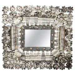 Mexican Tin Cut Mirror, circa 1980s