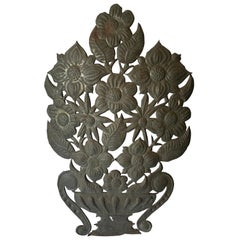 Mexican Tin Flower Wall Hanging Decoration