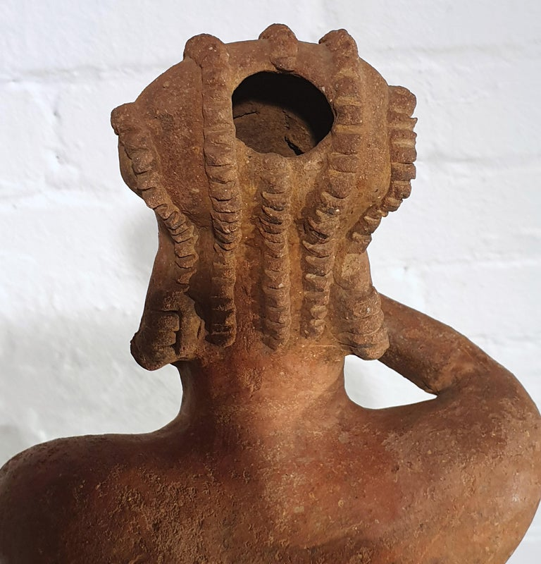 Mexican Tribal Red Clay Figure For Sale 5