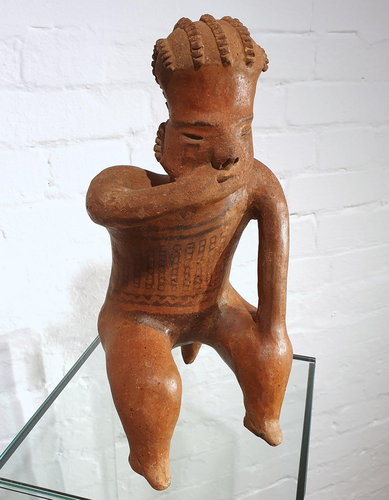 Mexican Tribal Red Clay Figure For Sale 7