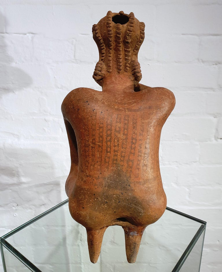 Mexican Tribal Red Clay Figure For Sale 1
