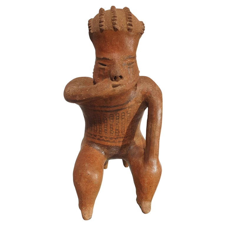 Mexican Tribal Red Clay Figure For Sale