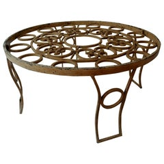 Mexico Modern Forged Iron Round Coffee Table Talleres Chacon Arturo Pani, 1950s
