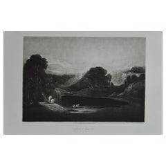 Mezzotint by John Martin, Adam and Eve-The Morning Hymn, Washbourne, 1853